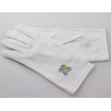 ODM for Embroidery Cotton Gloves Masonic Regalia White Cotton Gloves supply to Antigua and Barbuda Wholesale