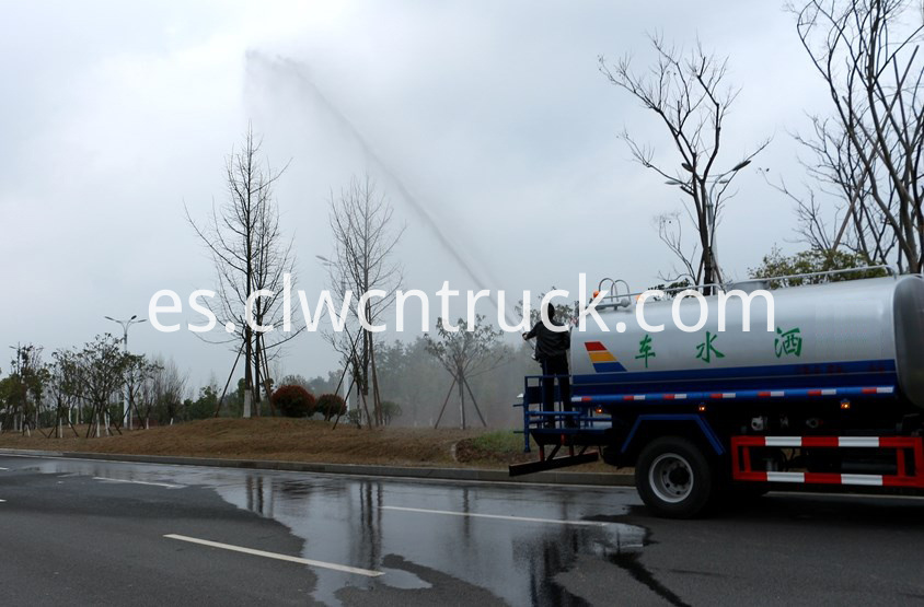 plant watering truck at work 5
