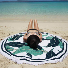 custom shaped round beach towel 180cm