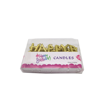Glitter Gold Letter Shaped Candles