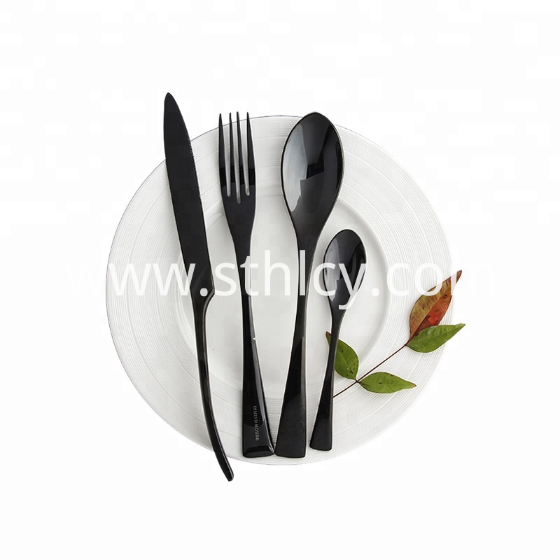 Pvd Black Color Cutlery