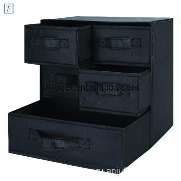 3 Shelf 5 Drawer Underwear Socks Sundries Folding Fabric Drawer Foldable Multipurpose Storage Box