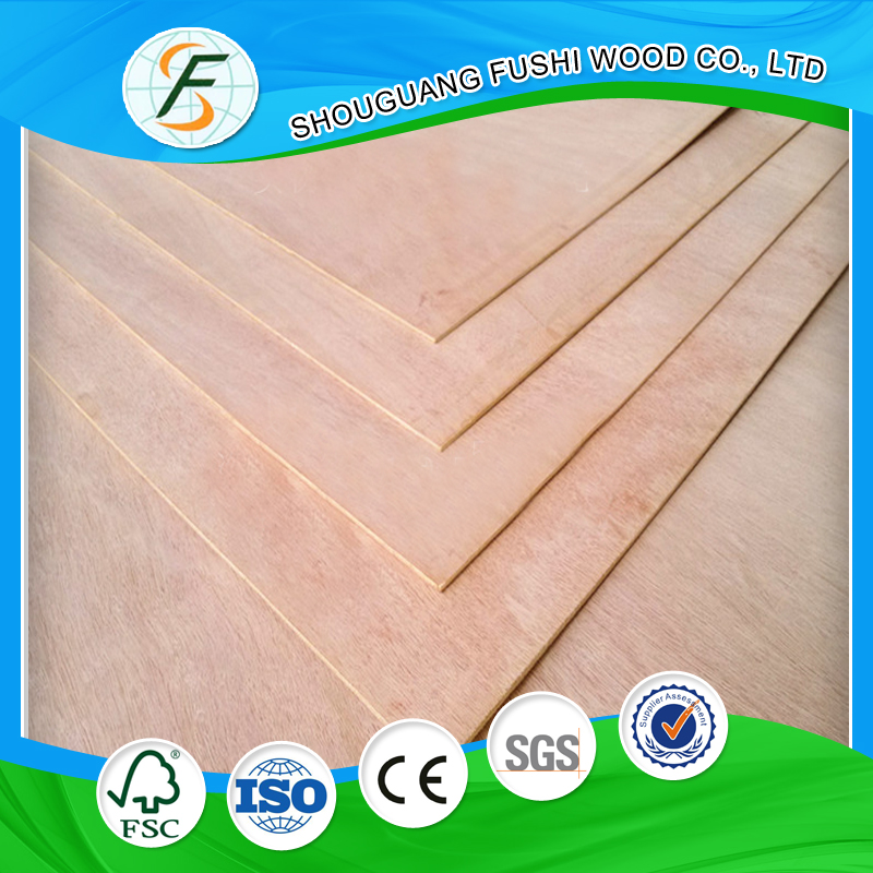 Poplar Main Material and Veneer Surface Commercial Plywood