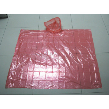 different color PE rain poncho