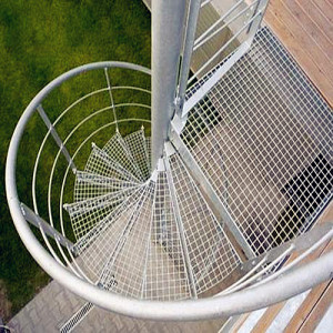 Steel Grating Spiral Stairs