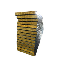 Cheapest Factory for Rock Wool Sandwich Panel Low Cost Fireproof Rockwool Sandwich Panel Insulation Panel export to Spain Exporter