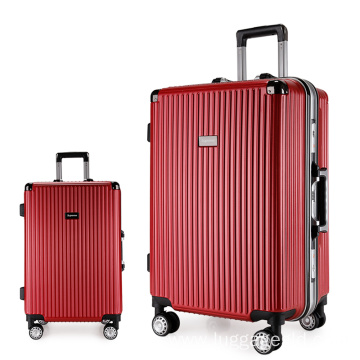 ABS PC aluminum frame trolley luggage set