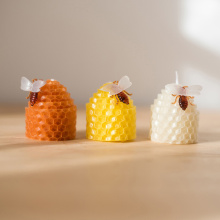 Hand Rolled Natural Honey Scent Color Beeswax Candle