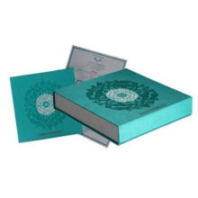 Custom cardboard greeting wedding invitation card box