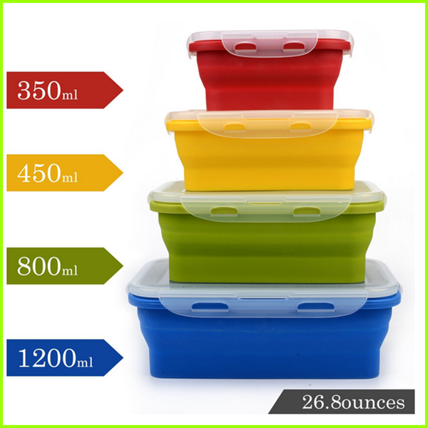 Reusable Food Grade Silicone Lunch Box