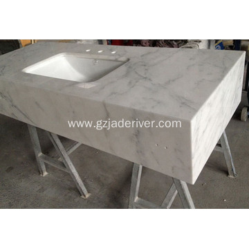 White Marble Stone Countertop for Bathroom