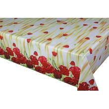 Pvc Printed fitted table covers Overhang