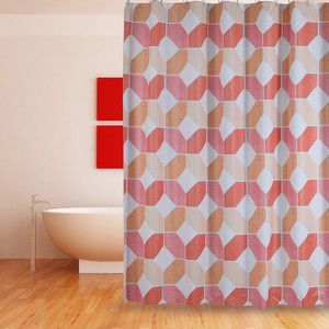ODM for China Shower Curtain Peva,Peva Shower Curtain,Clear Shower Curtain Supplier Shower Curtain PEVA Orange Coral supply to Cocos (Keeling) Islands Importers