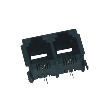 6P2C RJ11 Jack side entry Full Plastic1X2P