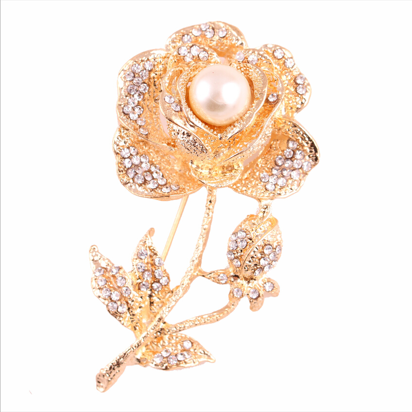 Fashion new Rose flower pin