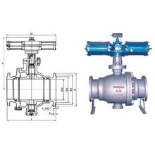 Large Diameter Pneumatic Unloading Ball Valve