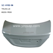 Factory making for China Trunk Lids And Tailgates For HYUNDAI,HYUNDAI Pilot Tailgate Panel Removal,HYUNDAI Accord Trunk Lid Replacement Manufacturer and Supplier Steel Body Autoparts HYUNDAI 2011 ACCENT TRUNK LID supply to British Indian Ocean Territory M
