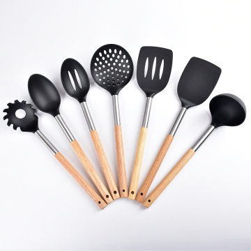 Nylon Kitchen Utensils with Wood Handle