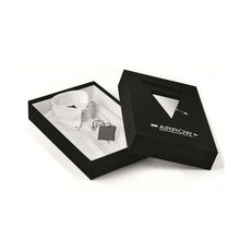 Custom Design Matt Black Paper Packaging Shirt Box