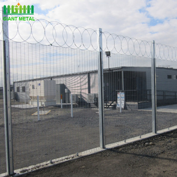 Galvanized 358 high security anti-climb fence