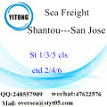 Shantou Port LCL Consolidation To San Jose