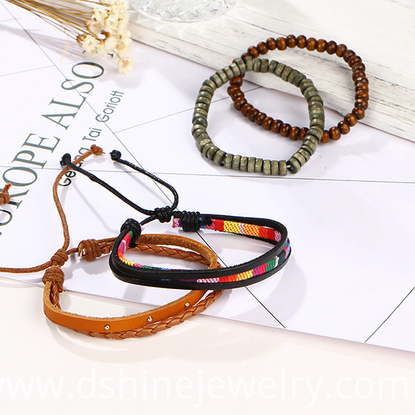 Rainbow Leather Bangle For Girl