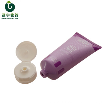 75ml cosmetic plastic tube for hand cream packaging