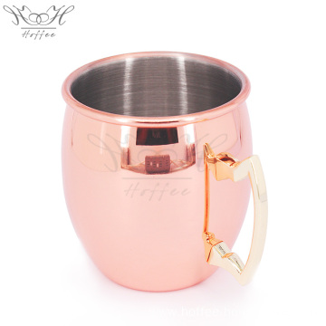 18OZ Stainless Steel Copper Moscow Mule Cocktail Mug