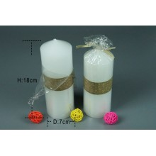 Unscented high quantity paraffin wax tall pillar candle