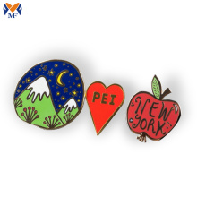 Custom metal heart pin button badge