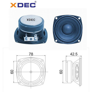 China New Product for Xdec Speaker Nice sound 78mm ferrite magnet speaker 15w 4ohm export to Cuba Suppliers