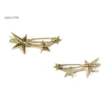 pentacle gold hair clips