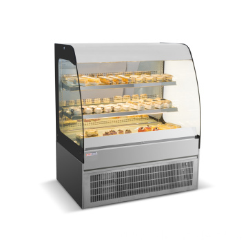 Bakery standing type mousses glass cake cabinet