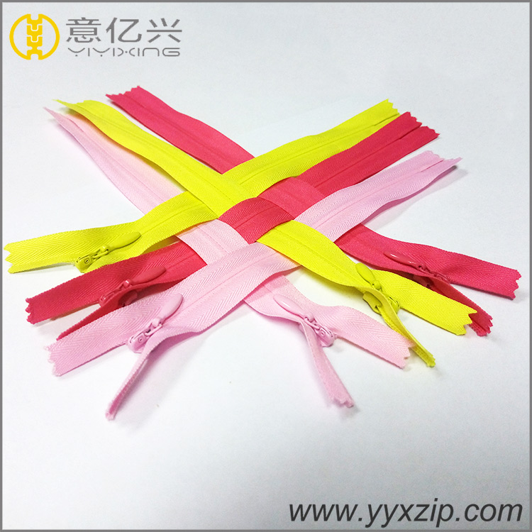 Various color Nylon Invisible zipper