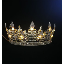 Leaves Night Light Up Crown Round Tiara
