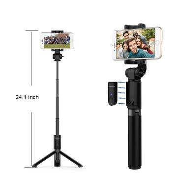 Foldable Tripod selfie stick for Bluetooth Button