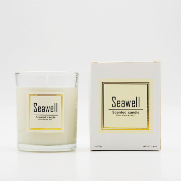 Natural Soybean Wax Scented Candles in Clear Glass Jar