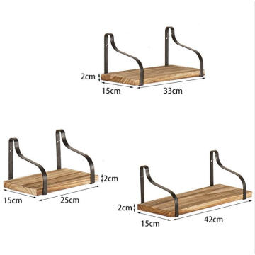 New design 3 pcs/Set wall mount shelf with bracket
