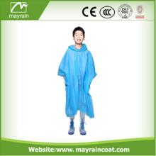Disposable Rain Poncho Waterproof Plastic poncho
