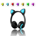 Wholesale Seven Color Control Wireless Cat Ear Headphones