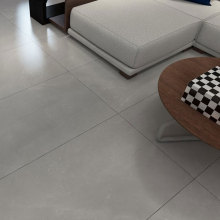 High gloss light grey marble effect porcelain tiles