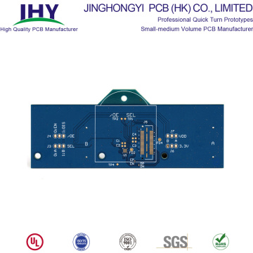Custom Service 1.6 mm 1 oz Blue Soldermask 6 Layer PCB Circuit Board