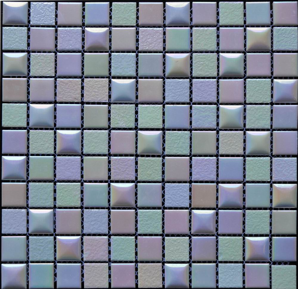 Embossing Glazed Ceramic Mosaic