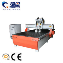 multihead woodworking cnc router with carving machine
