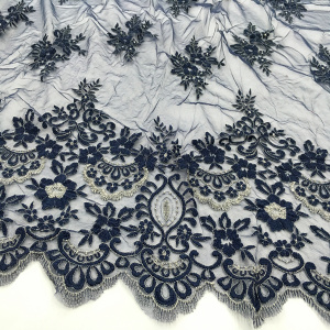 Factory Price for Clothing Lace Fabric Two Tone  Embroidery Fabric On Korea Mesh export to Barbados Factories
