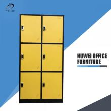Metal locker cabinet with 6 doors