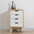 Colorful Wood Cabinet bedroom night stand