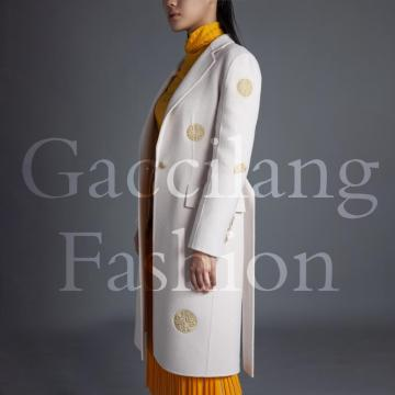 Vintage hand embroidered cashmere overcoats