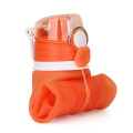 New Collapsible Water Bottle With Logo Silicon Bpa Free Portable