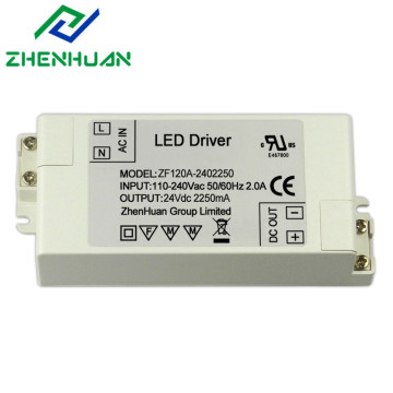 54 Watt led power supply transformer 24vdc 2250ma